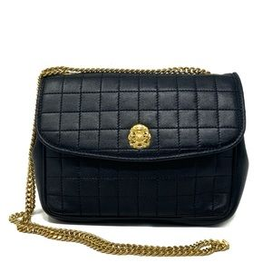 Celine Quilted Leather Gold Chain Shoulder Bag